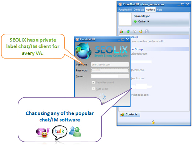 SEOLIX Chat Software for Virtual Assistants