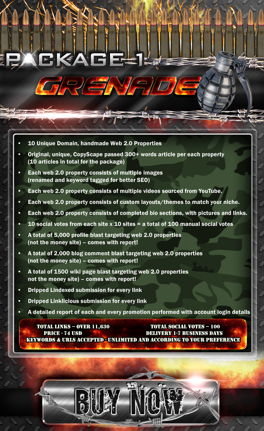 Google Frontier 2.0 Platinum - Package #1 - Grenade